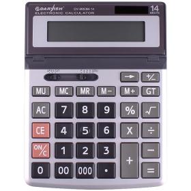 """Калькулятор настольный 14 разрядов """"Darvish"""" двойное питание 200*150*26 мм DV-9950M-14"""