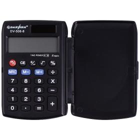 """Калькулятор карманный 8 разрядов """"Darvish"""" двойное питание 96*63*12 ммDV-508-8"""