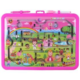 Набор для детей 2 в 1 (доска для рисования 35*26см+игра-лабиринт+ручка+ маркер+магнит)DV-10254