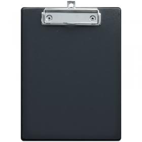 Планшет с зажимом OfficeSpace А5, ПВХ, черный ПСЗ5_68939