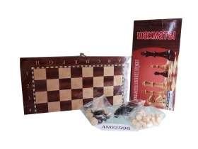 Игра 3 в 1 дерево лакиров(нарды,шашки,шахматы)(29х14.5х3см) фигуры дерево в коробке (Арт. AN02596)