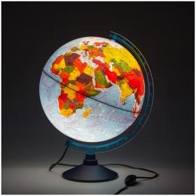 Глобус физико-политический Globen, 32см, с подсветкой на круглой подставке Ке013200228