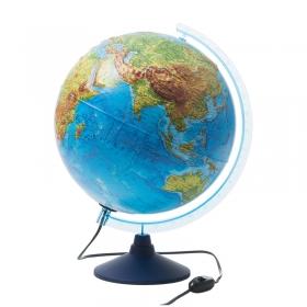 Глобус физико-политический рельефный Globen, 32см, с подсветкой на круглой подставке Ке013200233