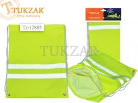 Светоотражающий мешок для обуви, 32х42 см, ЖЁЛТЫЙ цвет, водонепроницаемый TZ 12885