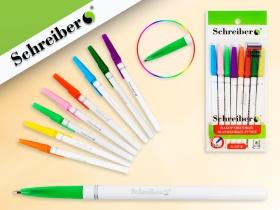 Набор шариковых ручек с цветными чернилами, 8 цветов,  0,7 mm,  S 347-8