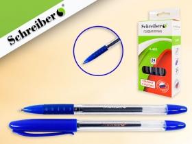 Ручка гелевая синяя, 0,5мм , прозрачный корпус с резиновым держателем, S-485А