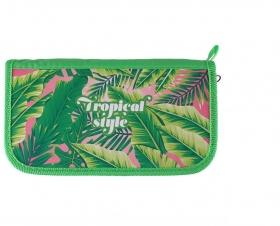 Пенал 3отдел. 190*105мм Тропические листья ПО-11