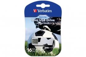 Флеш-накопитель Verbatim  USB 16GB Mini Graffiti Edition Football V16GB Mini F