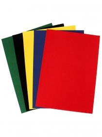 Набор бархатной цв. бумаги, А4, 5 цв.,5 л. (плотность 150 г/м2) красн,син,жёл,зел,чёрн. Арт. 05-7969