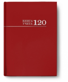 Книга учёта 120л. БОРДО, клетка (120-3025) переплёт 7БЦ, глянц.ламин., блок-офсет, 200х298 120-3025
