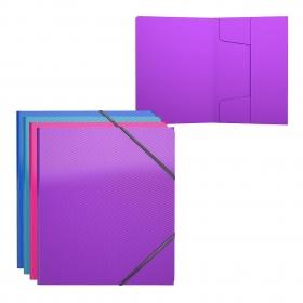 Папка на резинках пластиковая  ErichKrause® Glance Vivid, A5+, ассорти (в пакете по 4 шт.) 47196