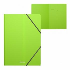 Папка на резинках пласт. EK Neon, A4, кореш.5мм, пл0.4мм, 246х320х5 зел.(в уп 1 шт.) 47143