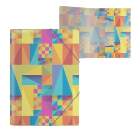 Папка на резинках пластиковая  ErichKrause® Arlecchino, A4 (в пакете по 4 шт.) 47209