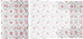 Папка на резинках пластиковая  ErichKrause® Bonjour, A4 (в коробке-дисплее по 24 шт.) 45443