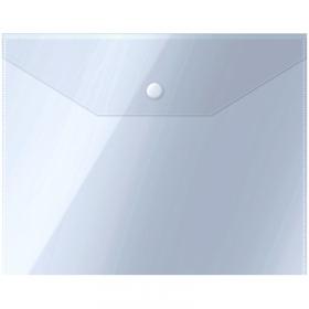 Папка-конверт на кнопке OfficeSpace А5 (190*240мм), 150мкм, прозрачная 267532