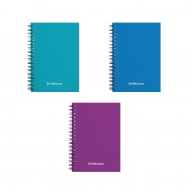 Тетрадь общая с пластиковой обложкой на спирали ErichKrause® Glance Vivid, А6, 80 листов, 43541