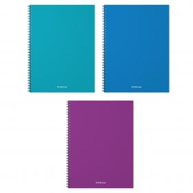 Тетрадь общая с пластиковой обложкой на спирали ErichKrause® Glance Vivid, А4, 60 листов, клетка 435