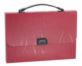 Портфель пластиковый ErichKrause®  Evo, A4, бордовый 30159