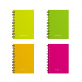Тетрадь общая с пластиковой обложкой на спирали ErichKrause® Neon, А6, 60 листов, клетка 43531