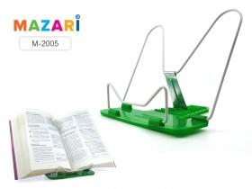 Подставка для книг, пластик+металл, металл. упор, цв. ассорти, пластиковый пакет с европодвес M-2005