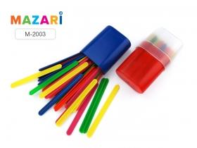 Счетные палочки пластиковые, 30шт., цв. ассорти, пластиковый пенал M-2003