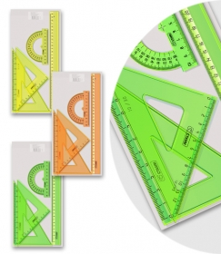 Набор большой (треуг.2шт, лин.30, тр-р)  NEON Crystal ассорти НГ16