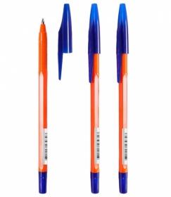 Ручка шариковая СТАММ 333 синий стержень 130мм.0,7мм на масляной основе ORANGE  РШ305