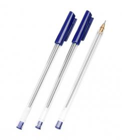 Ручка шариковая масляная синий стержень 0,7 СТАММ РШ800
