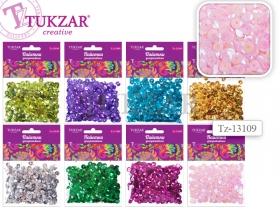 Пайетки для декоративных работ в пакетике, 8 цветов в ассортименте, 11х8 см TZ 13109