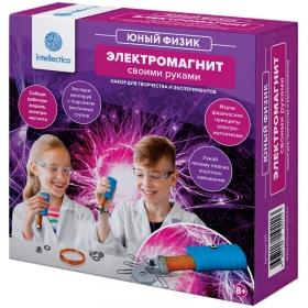 """Набор для опытов Intellectico """"Юный физик. Электромотор своими руками"""", картонная коробка 213"""