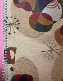 Блокнот формат А6, 116*160 мм, 70л., спираль сбоку , лакиров. картон  / 6с38