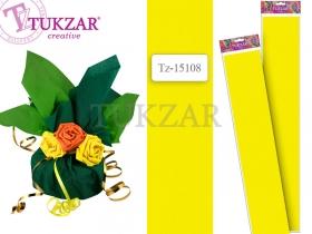 Цветная крепированная бумага 50х250 см, ЖЕЛТЫЙ цвет TZ 15108