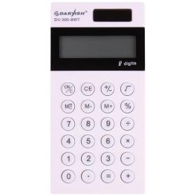 """Калькулятор карманный 8 разрядов """"Darvish"""" двойное питание 118*58*11,3 мм, DV-300-8WT"""