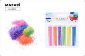 Набор блёсток декоративных, 6 цветов х 4 г, в пластиковых тубах, с европодвесом M-9801 цена за 6 шт