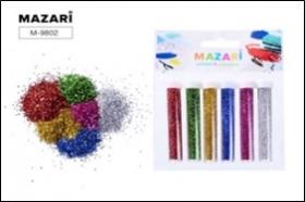 Набор блёсток декоративных, 6 цветов х 4 г, в пластиковых тубах, с европодвесом M-9802 цена за 6 шт
