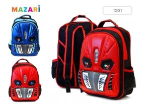 Рюкзак для школьников, с миг.огнями, 39.5х28х16.5см, 2 отд., 2 карм., упл.спинка вентилир 2цв. 1201*