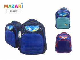 Рюкзак школьный для мальчиков MOSAIC, 38х29.5х16см, 2 отд., 3 карм., упл. спинка, M-1102*