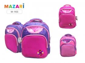 Рюкзак школьный для девочек MOSAIC, 38х29.5х16см, 2 отд., 3 карм., упл. спинка M-1103*