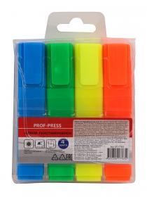 Набор текстмаркеров, (ОП-7763) 2-5 мм , 4 цв. кратно 12 ОП-7763