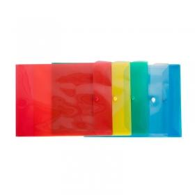 Конверт на кнопке вертикальный А4, ВЕРТИКАЛЬНЫЙ, 245х340, 180мкм красный КНК-180-С4