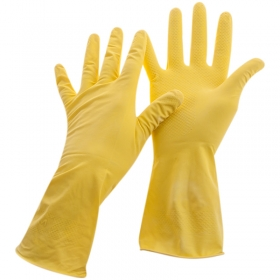 Перчатки резиновые хозяйственные OfficeClean Универсальные, р.L, желтые, пакет с европодвесом 248566