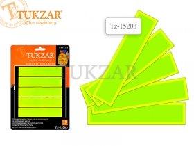Набор светоотражающих наклеек (фликеров) ПОЛОСКИ, 10 шт. Блистерная упаковка. TZ 15203