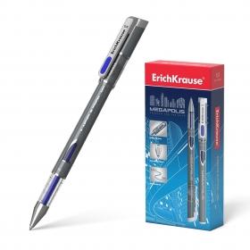 Ручка гелевая ErichKrause® MEGAPOLIS® Gel, цвет чернил синий  (в коробке по 12 шт.)