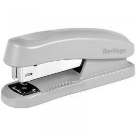 """Степлер №24/6, 26/6 Berlingo """"Universal"""" до 30л., пластиковый корпус, серый H31002"""