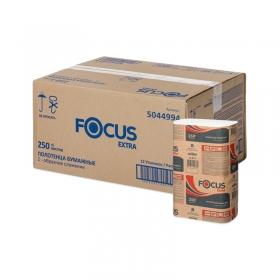 Полотенца бумажные лист. Focus Extra (Z-сл) 1-слойные, 250л/пач. 21,5*24см, белые 5044994/5069958
