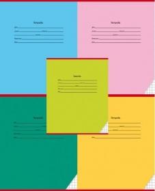 Тетрадь КЛЕТКА 18л. КЛАССИКА (18011-18015) цвет.мелов.обл.,5 дизайнов в спайке Лента