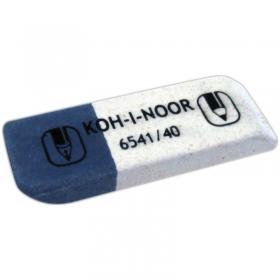 Ластик KOH-I-NOOR 6541/40 каучук 60x20x8 мм серо-белый
