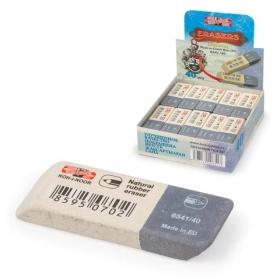Ластик KOH-I-NOOR 6541/40, 57x19,5x8 мм, бело-серый, нат.каучук, 6541040007KDRU, 225397