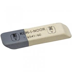 Ластик KOH-I-NOOR 6541/60, 50х13х7 мм, бело-серый, нат.каучук, 6541060007KDRU, 220403