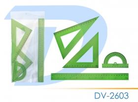 "Набор геометрический 4предм.""Darvish"" (лин.30 см,трансп.180*,треуг.90/30,треуг.90/45) DV-2603"